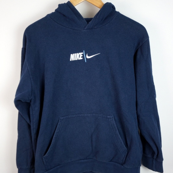 a2260cee8d390 Vintage Nike Hooded Sweatshirt Embroidered Swoosh